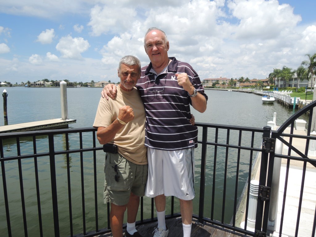 Grandmaster Vincent Marchetti and Chuck Wepner on Marco Island