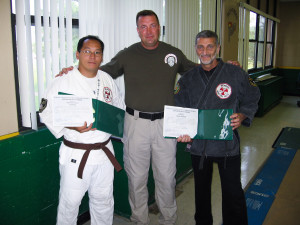 Sensei Joe Pung, SRT Trainer Jeff Graf, Grandmaster Vincent Marchetti
