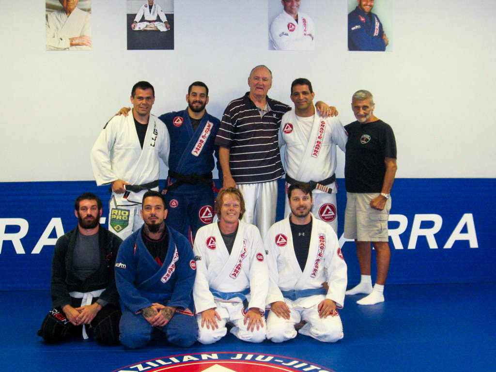 Instructor Victor Pires, Chuck Wepner, Professor Ricardo Pires, Grandmaster Marchetti as well as various students.